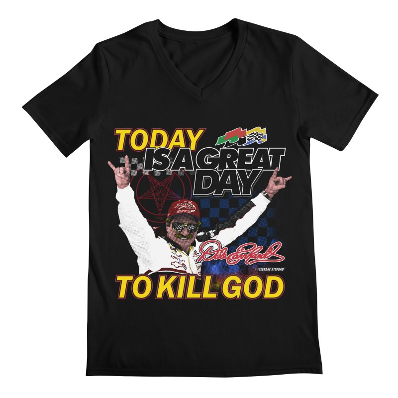 TODAY IS A GREAT DAY TO KILL GOD Men's Regular V-Neck by Teenage Stepdad