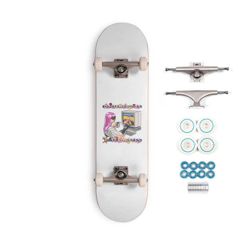 ANOTHER DAY IN TERABYTES Accessories Complete - Basic Skateboard by Teenage Stepdad
