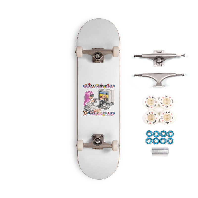 ANOTHER DAY IN TERABYTES Accessories Complete - Premium Skateboard by Teenage Stepdad