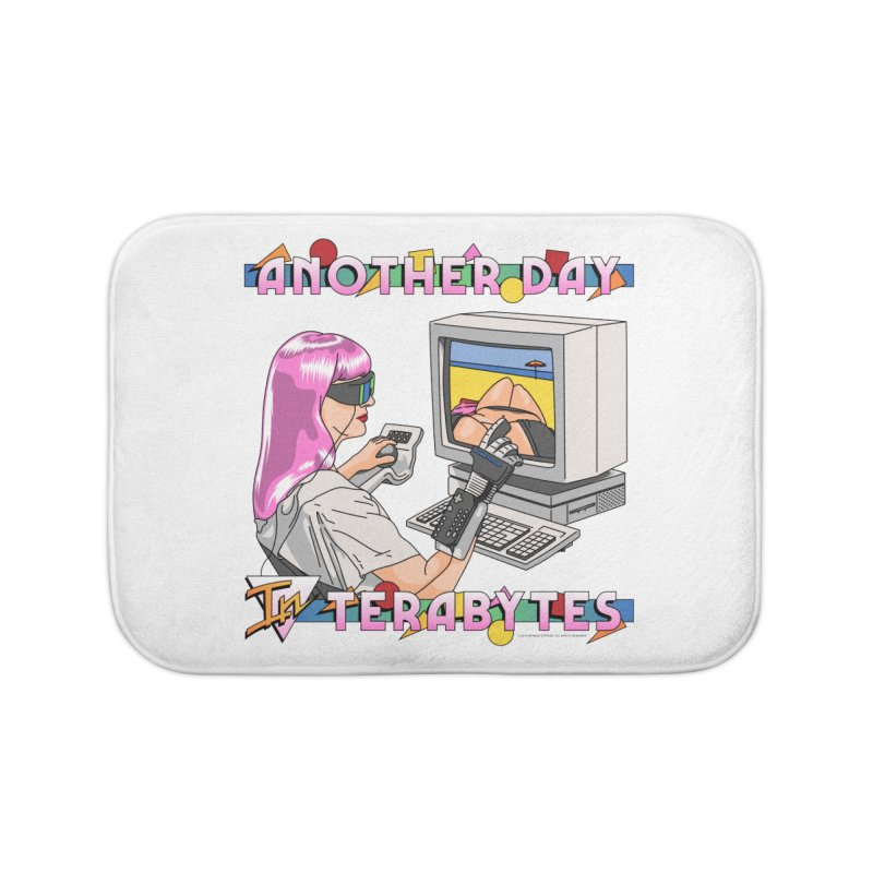 ANOTHER DAY IN TERABYTES Home Bath Mat by Teenage Stepdad