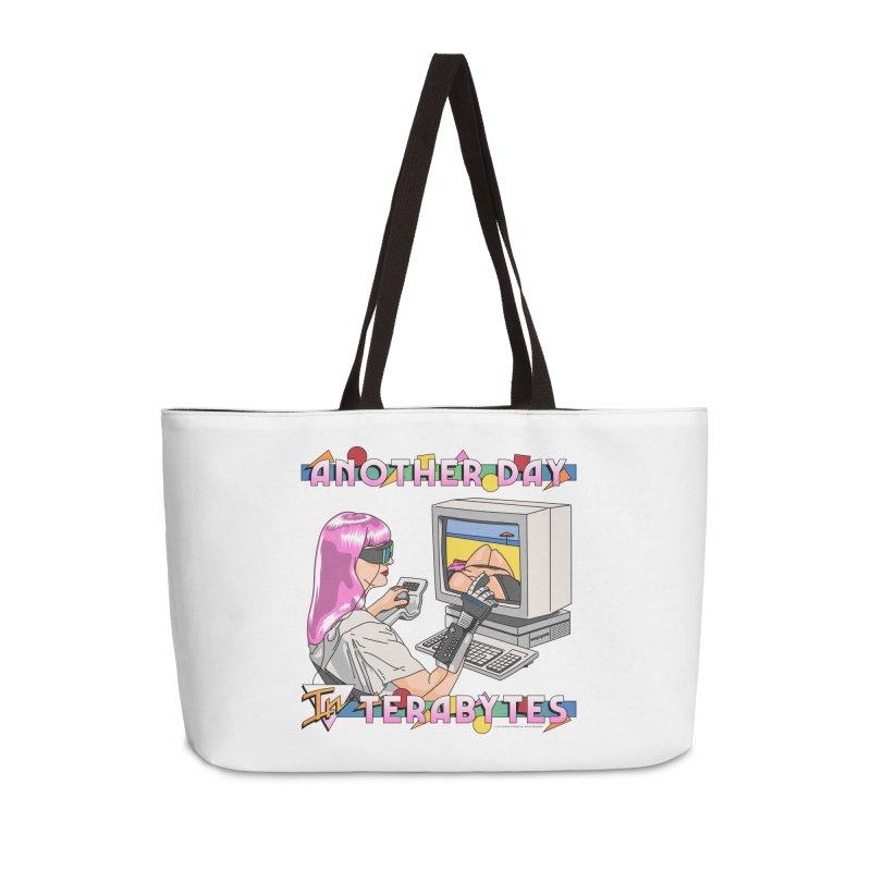 ANOTHER DAY IN TERABYTES Accessories Weekender Bag Bag by Teenage Stepdad