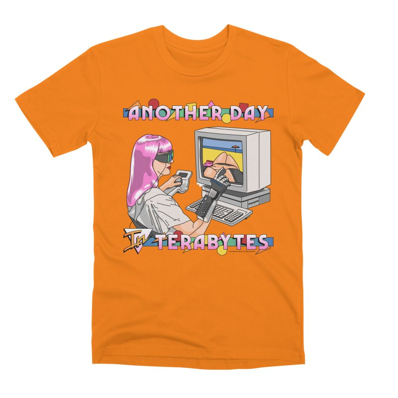 ANOTHER DAY IN TERABYTES Men's T-Shirt by Teenage Stepdad
