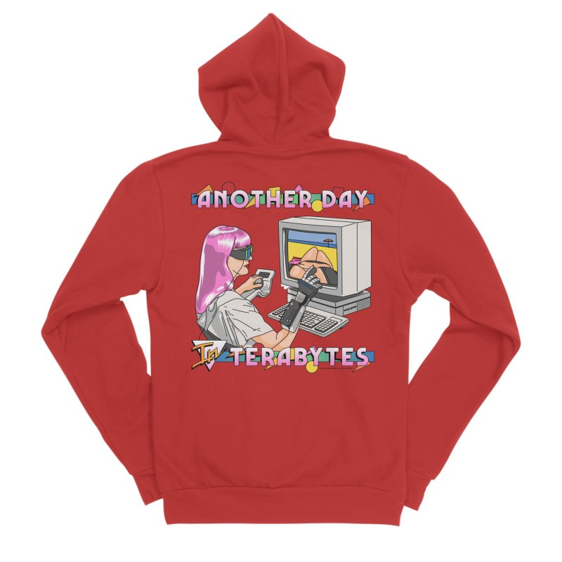 ANOTHER DAY IN TERABYTES Women's Zip-Up Hoody by Teenage Stepdad