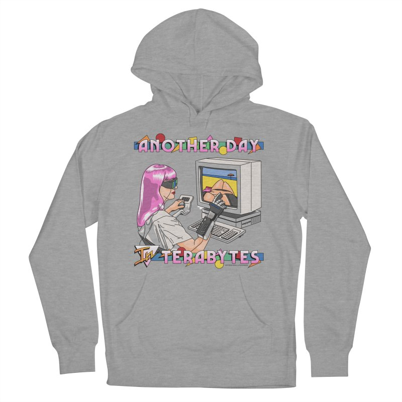 ANOTHER DAY IN TERABYTES Men's French Terry Pullover Hoody by Teenage Stepdad