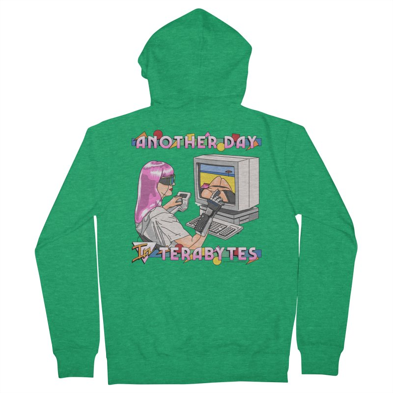 ANOTHER DAY IN TERABYTES Women's French Terry Zip-Up Hoody by Teenage Stepdad