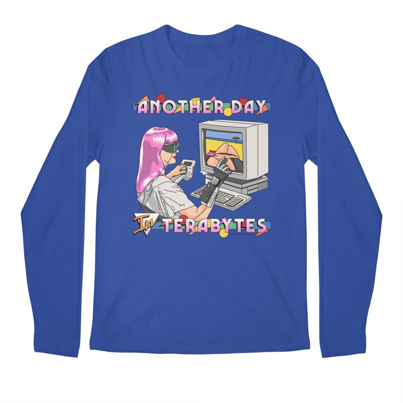 ANOTHER DAY IN TERABYTES Men's Regular Longsleeve T-Shirt by Teenage Stepdad