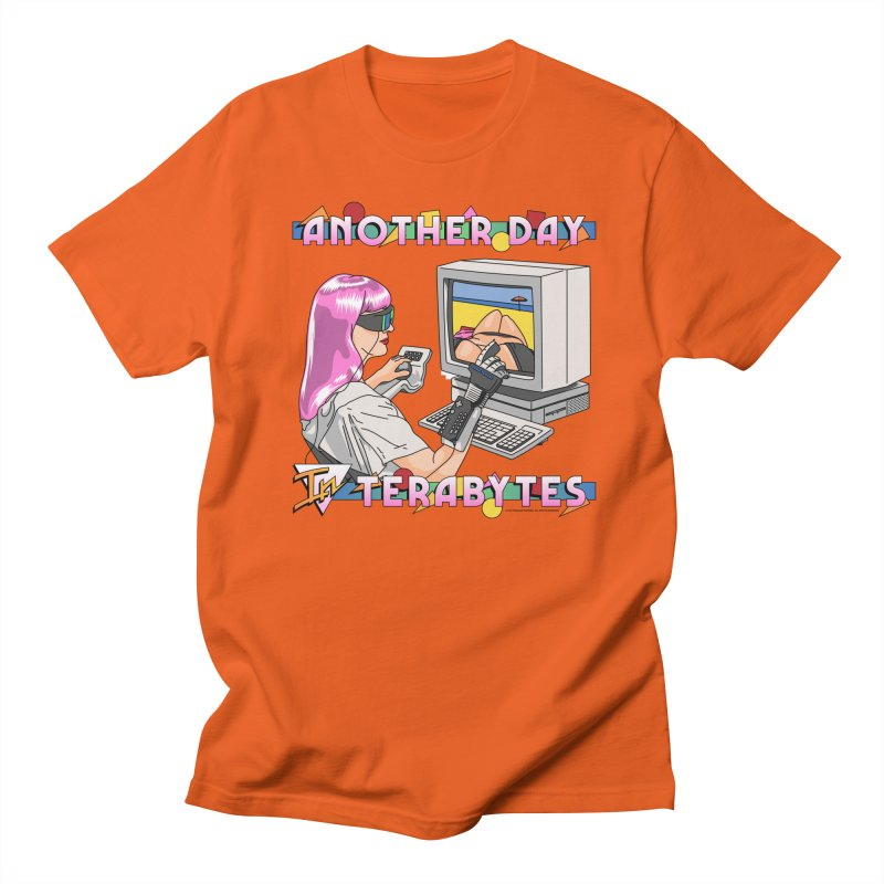 ANOTHER DAY IN TERABYTES Men's Regular T-Shirt by Teenage Stepdad