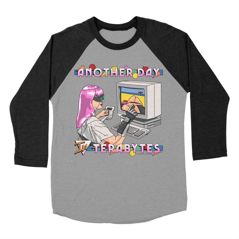 ANOTHER DAY IN TERABYTES Men's Baseball Triblend Longsleeve T-Shirt by Teenage Stepdad