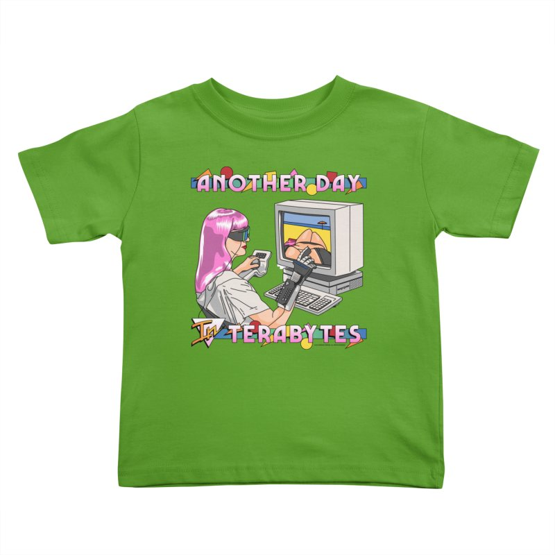 ANOTHER DAY IN TERABYTES Kids Toddler T-Shirt by Teenage Stepdad