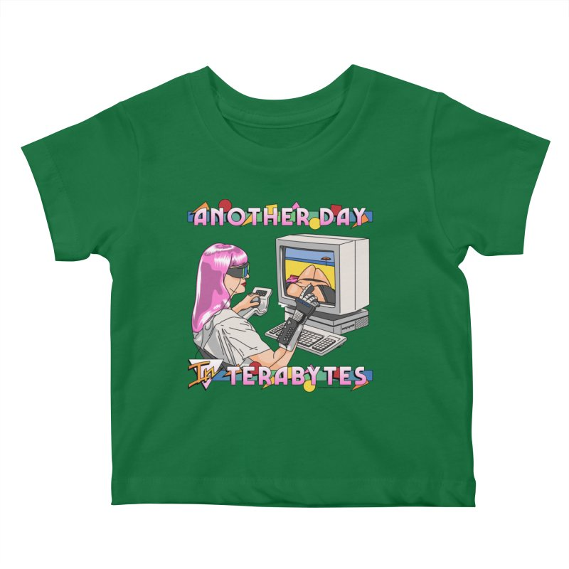 ANOTHER DAY IN TERABYTES Kids Baby T-Shirt by Teenage Stepdad