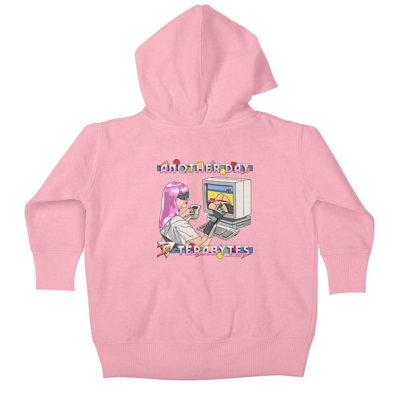 ANOTHER DAY IN TERABYTES Kids Baby Zip-Up Hoody by Teenage Stepdad