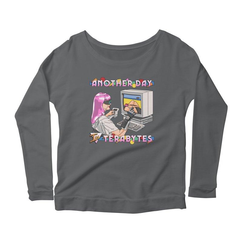 ANOTHER DAY IN TERABYTES Women's Longsleeve T-Shirt by Teenage Stepdad