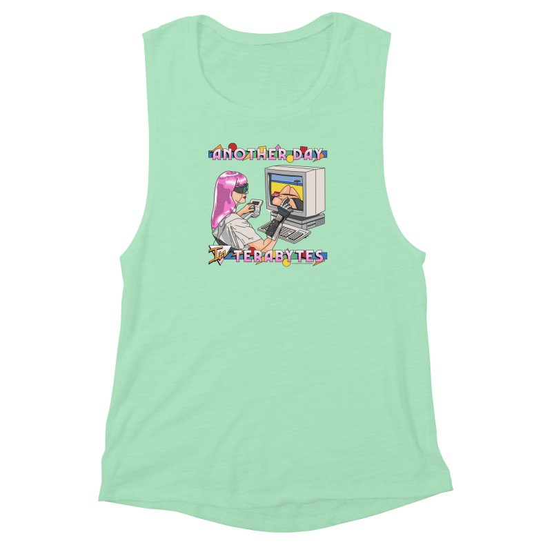 ANOTHER DAY IN TERABYTES Women's Muscle Tank by Teenage Stepdad