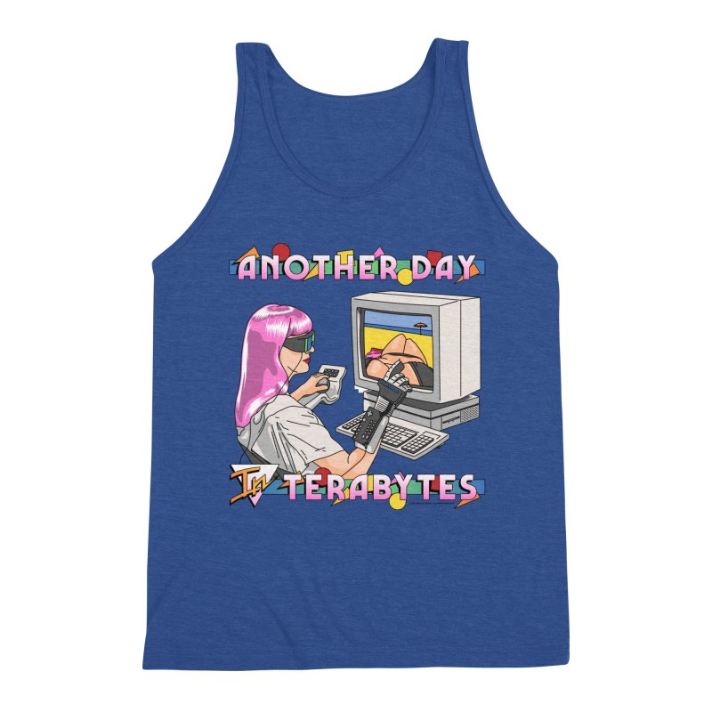 ANOTHER DAY IN TERABYTES Men's Tank by Teenage Stepdad