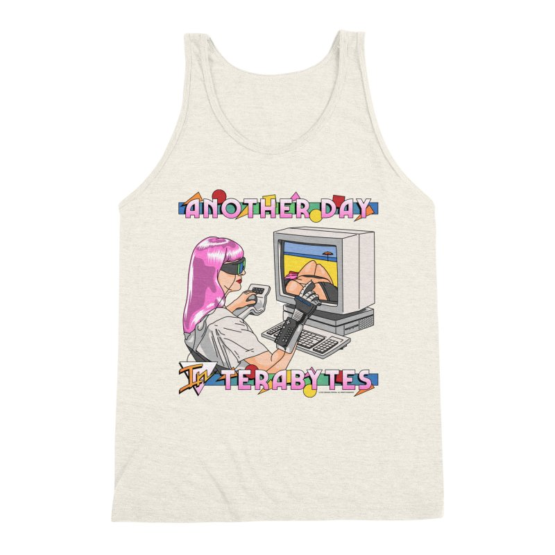 ANOTHER DAY IN TERABYTES Men's Triblend Tank by Teenage Stepdad