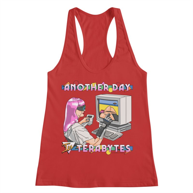 ANOTHER DAY IN TERABYTES Women's Racerback Tank by Teenage Stepdad