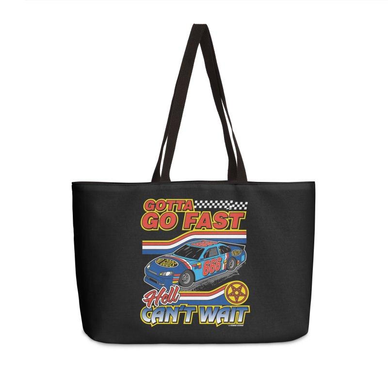 GOTTA GO FAST / HELL CAN'T WAIT Accessories Weekender Bag Bag by Teenage Stepdad