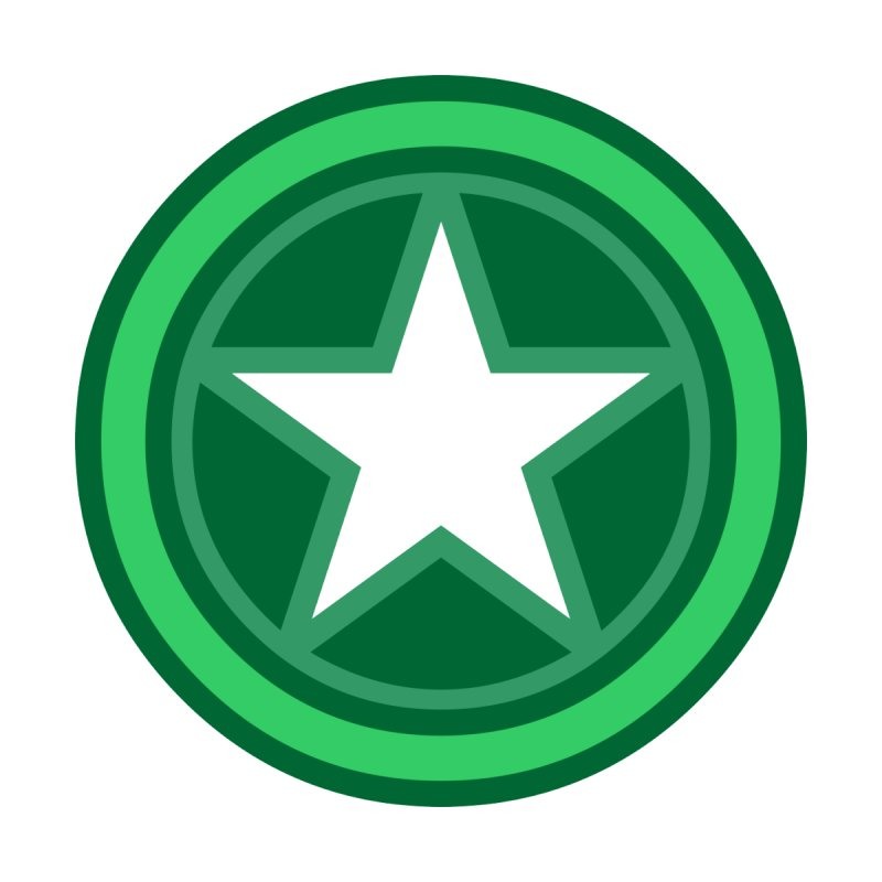 Green Star by Tee Panic T-Shirt Shop by Muzehack