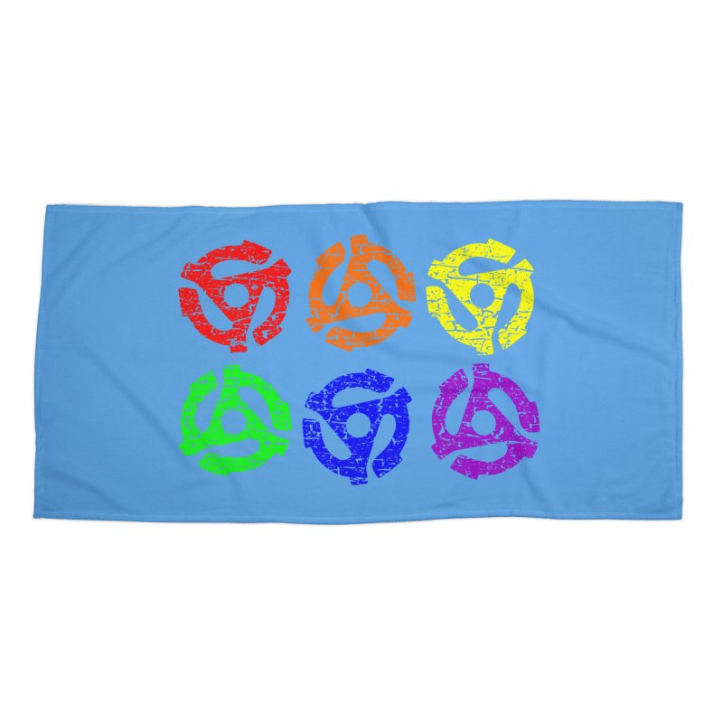 Rainbow 45 Adapters in Beach Towel by Tee Panic T-Shirt Shop by Muzehack