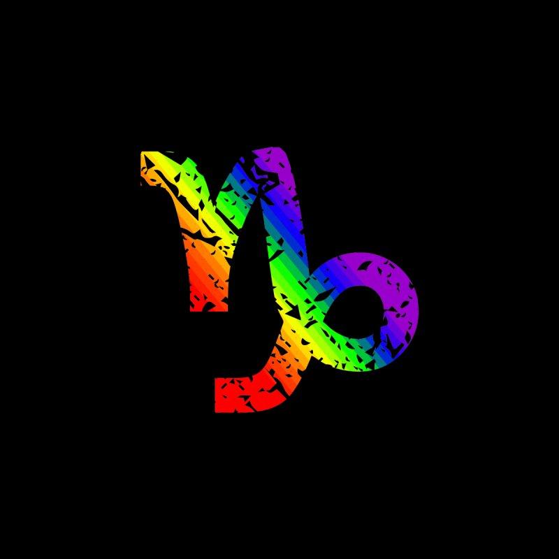 Capricorn Rainbow Zodiac by Tee Panic T-Shirt Shop by Muzehack