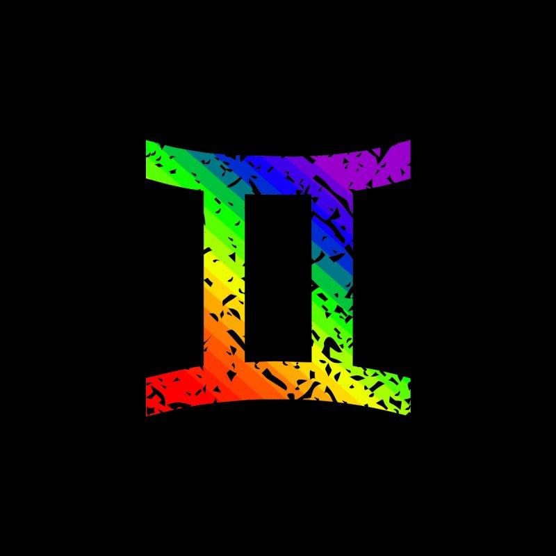 Gemini Rainbow Zodiac by Tee Panic T-Shirt Shop by Muzehack