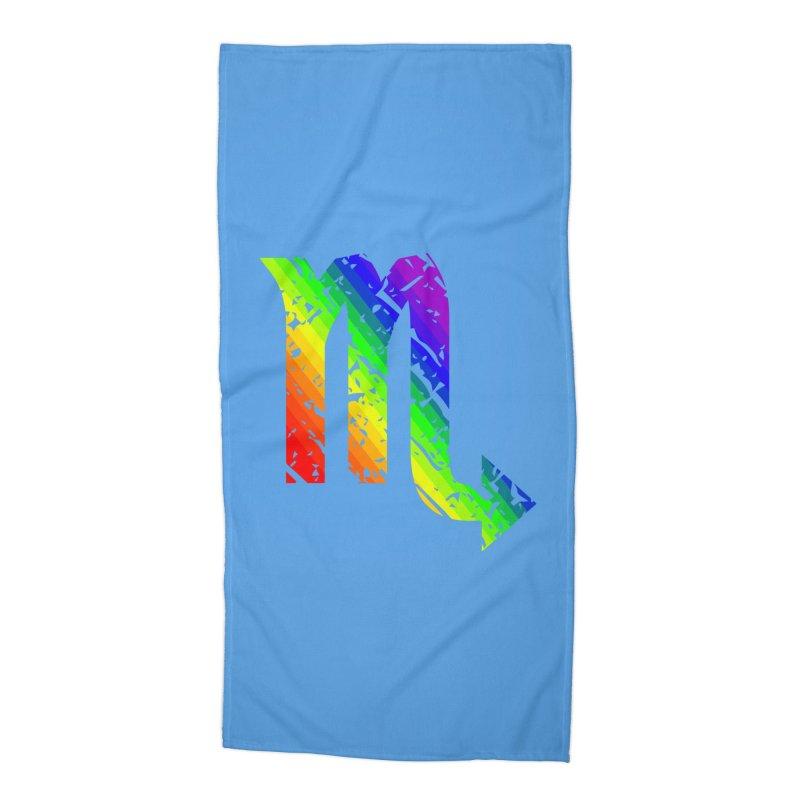 Scorpio Rainbow Zodiac in Beach Towel by Tee Panic T-Shirt Shop by Muzehack