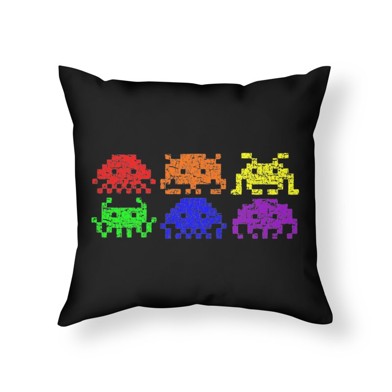 Pride Invaders T-shirt Home Throw Pillow by Tee Panic T-Shirt Shop by Muzehack