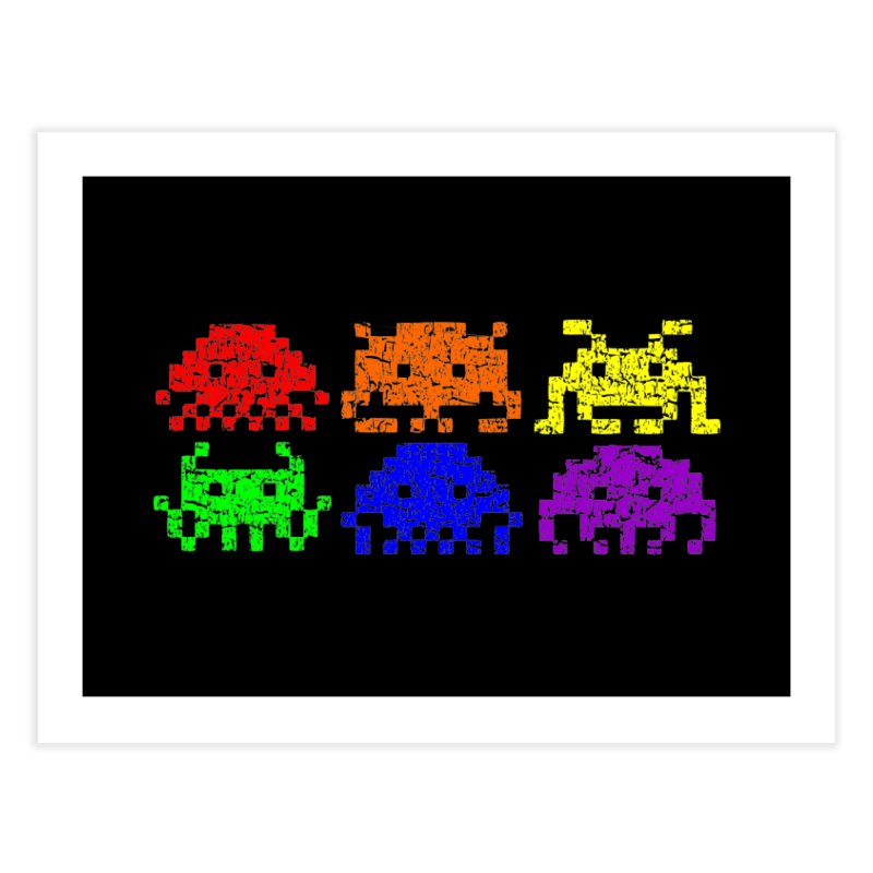 Pride Invaders T-shirt Home Fine Art Print by Tee Panic T-Shirt Shop by Muzehack