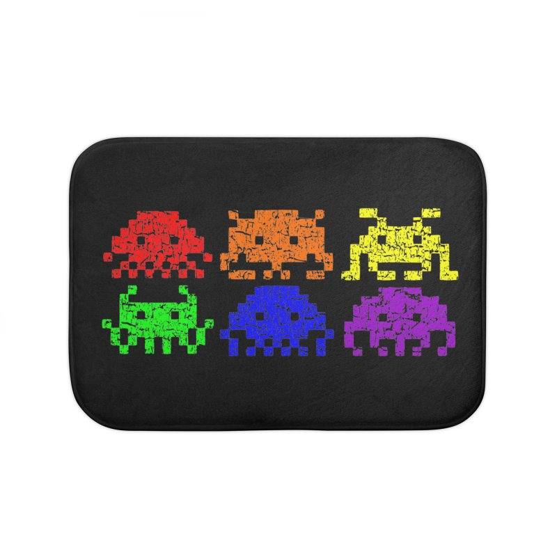 Pride Invaders T-shirt Home Bath Mat by Tee Panic T-Shirt Shop by Muzehack