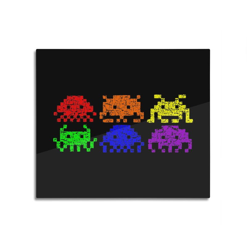 Pride Invaders T-shirt Home Mounted Aluminum Print by Tee Panic T-Shirt Shop by Muzehack