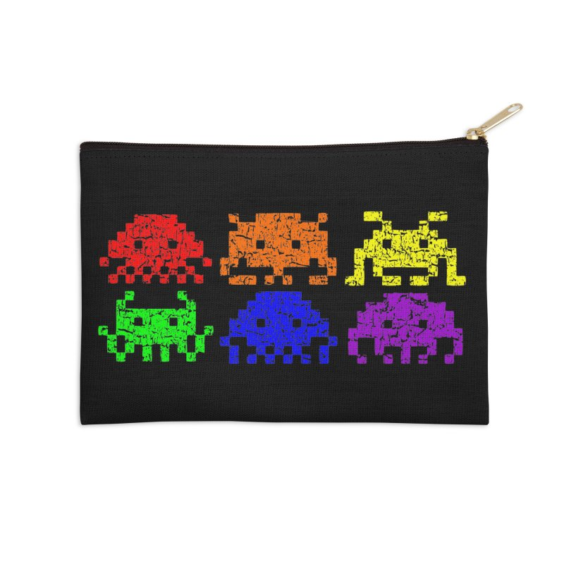 Pride Invaders T-shirt Accessories Zip Pouch by Tee Panic T-Shirt Shop by Muzehack