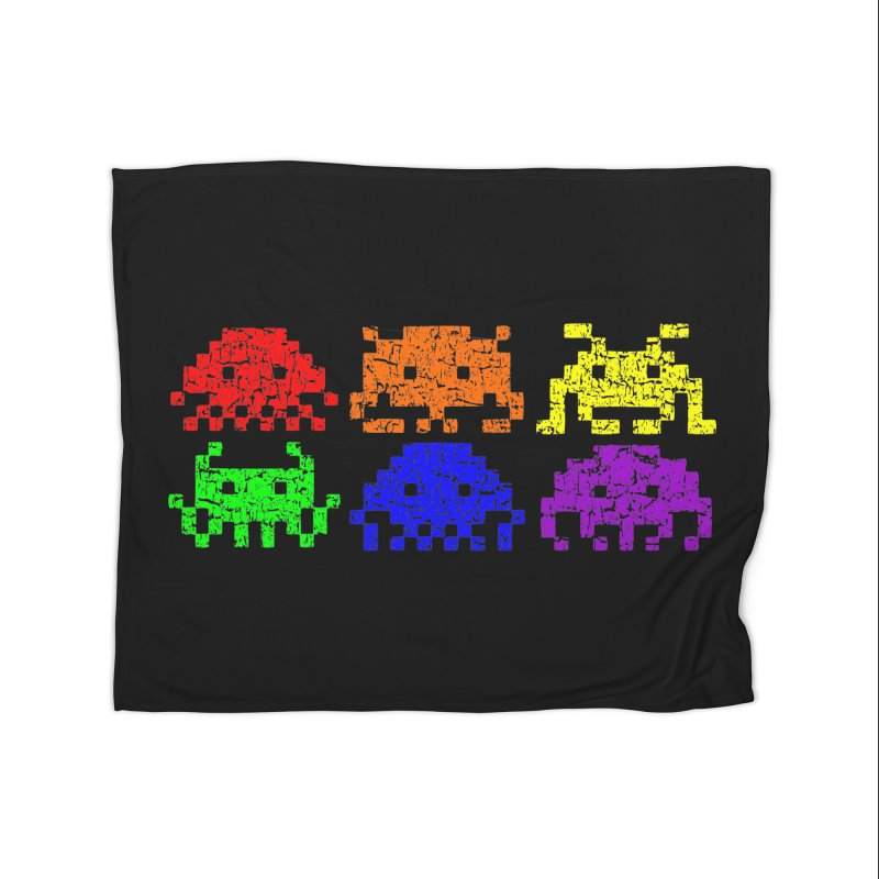 Pride Invaders T-shirt Home Blanket by Tee Panic T-Shirt Shop by Muzehack