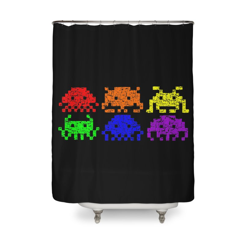 Pride Invaders T-shirt Home Shower Curtain by Tee Panic T-Shirt Shop by Muzehack