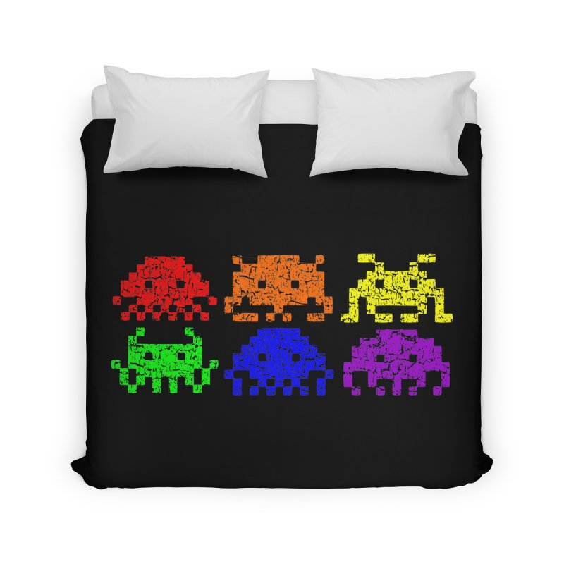 Pride Invaders T-shirt Home Duvet by Tee Panic T-Shirt Shop by Muzehack