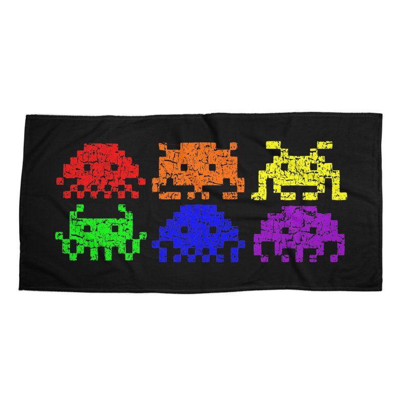 Pride Invaders T-shirt in Beach Towel by Tee Panic T-Shirt Shop by Muzehack