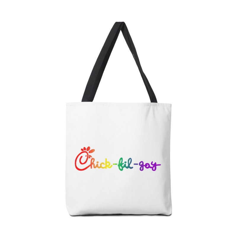 Rainbow Chick fil gay t-shirt Accessories Bag by Tee Panic T-Shirt Shop by Muzehack