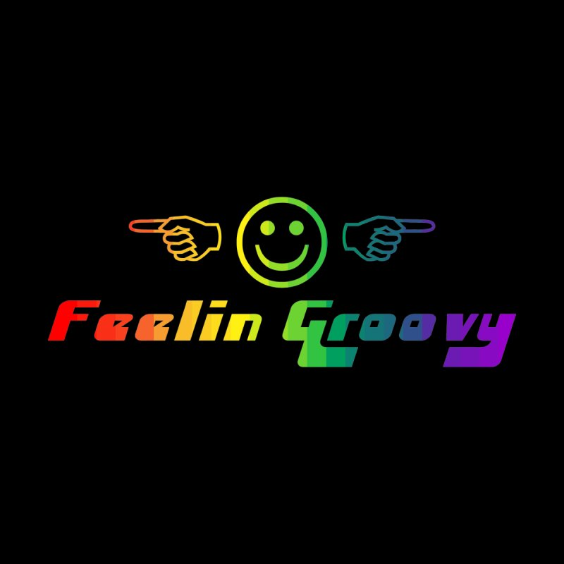 Feelin Groovy Rainbow T-shirt by Tee Panic T-Shirt Shop by Muzehack