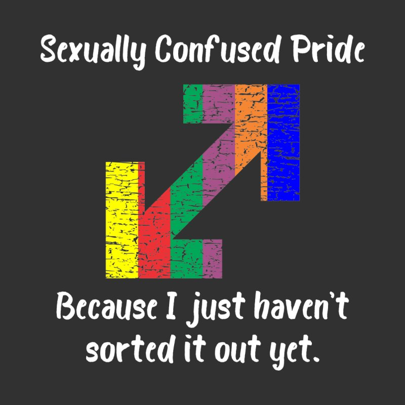 Sexually Confused Pride T-shirt by Tee Panic T-Shirt Shop by Muzehack