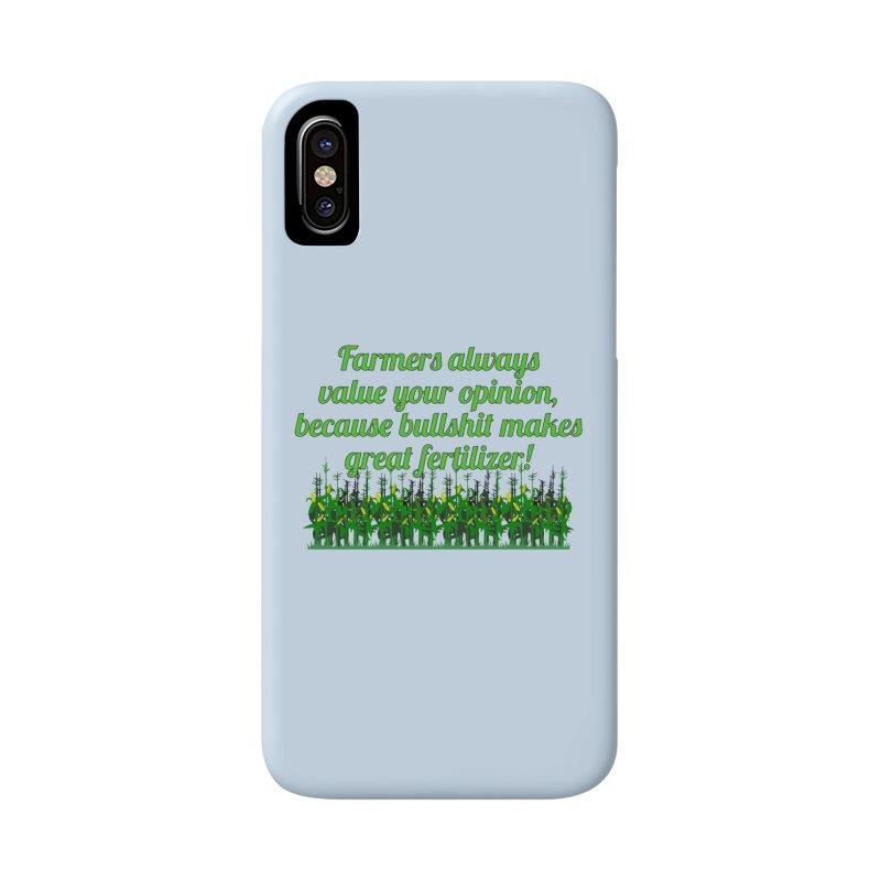 Farmer Bullshit Opinion T-shirt Accessories Phone Case by Tee Panic T-Shirt Shop by Muzehack