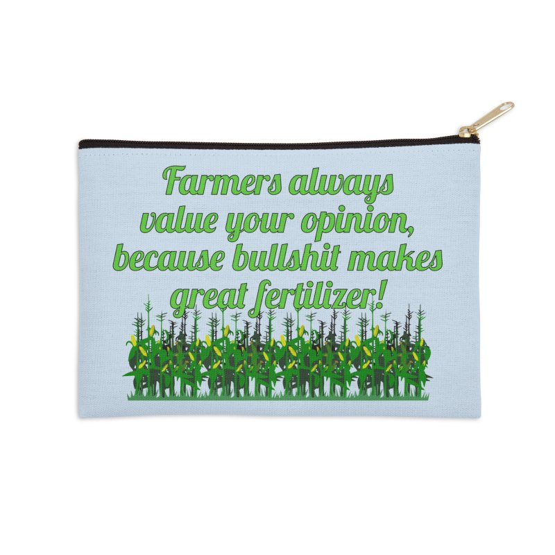 Farmer Bullshit Opinion T-shirt Accessories Zip Pouch by Tee Panic T-Shirt Shop by Muzehack