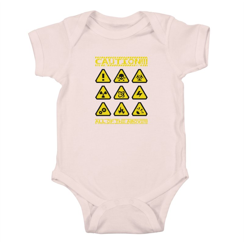 Caution Signs T-shirt Kids Baby Bodysuit by Tee Panic T-Shirt Shop by Muzehack