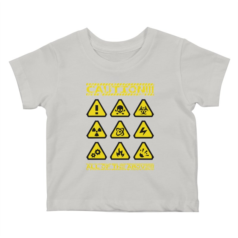 Caution Signs T-shirt Kids Baby T-Shirt by Tee Panic T-Shirt Shop by Muzehack