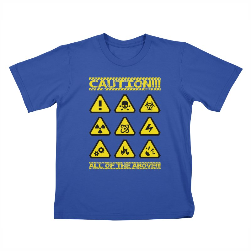 Caution Signs T-shirt Kids T-Shirt by Tee Panic T-Shirt Shop by Muzehack