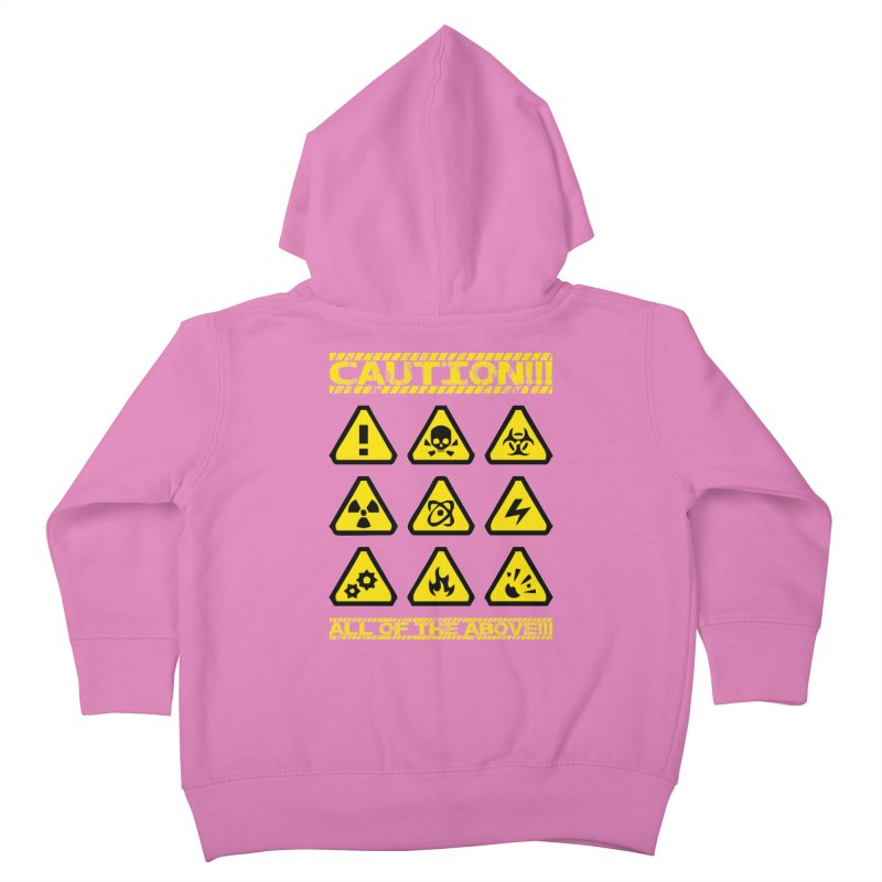 Caution Signs T-shirt Kids Toddler Zip-Up Hoody by Tee Panic T-Shirt Shop by Muzehack