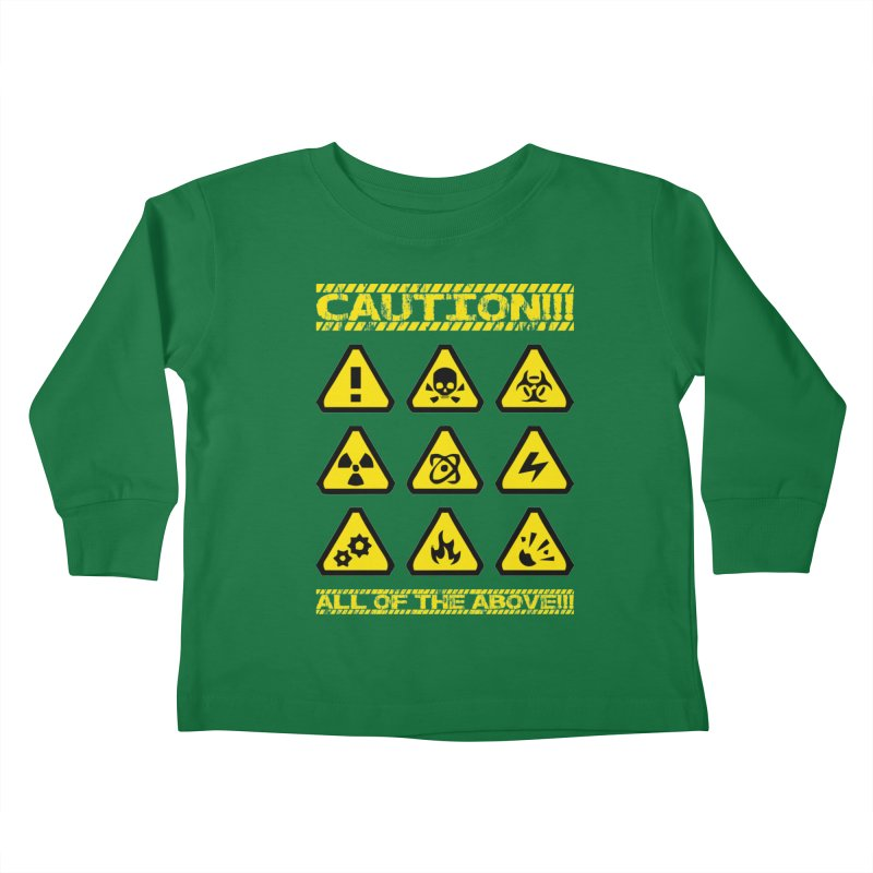 Caution Signs T-shirt Kids Toddler Longsleeve T-Shirt by Tee Panic T-Shirt Shop by Muzehack