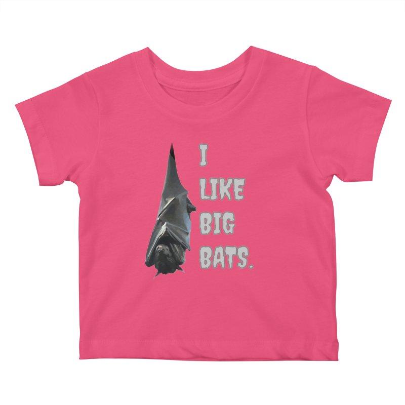 I Like Big Bats T-shirt Kids Baby T-Shirt by Tee Panic T-Shirt Shop by Muzehack