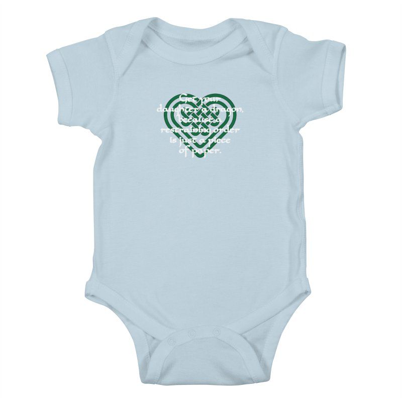 Get Your Daughter A Dragon T-Shirt Kids Baby Bodysuit by Tee Panic T-Shirt Shop by Muzehack