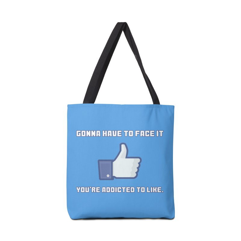 Facebook Addicted To Like T-shirt Accessories Bag by Tee Panic T-Shirt Shop by Muzehack