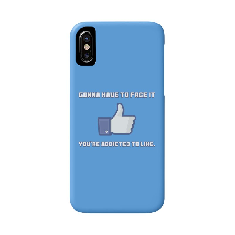 Facebook Addicted To Like T-shirt Accessories Phone Case by Tee Panic T-Shirt Shop by Muzehack