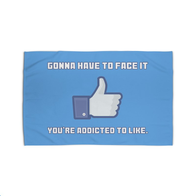 Facebook Addicted To Like T-shirt Home Rug by Tee Panic T-Shirt Shop by Muzehack